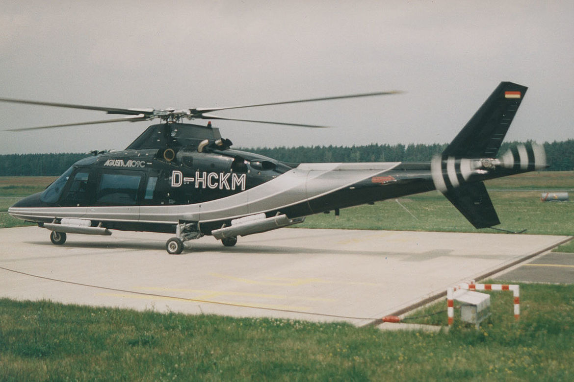 Aero-Dienst maintenance and sale Augusta helicopters 1995