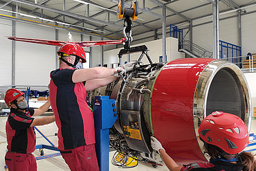 3 technicians from Aero-Dienst provide AOG support in Luxembourg to keep the air ambulance Learjet 45XR of LAA mission-ready