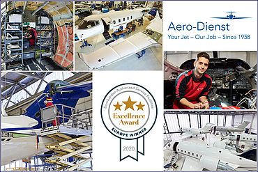Aero-Dienst wins the Bombardier Excellence Award for the sixth time