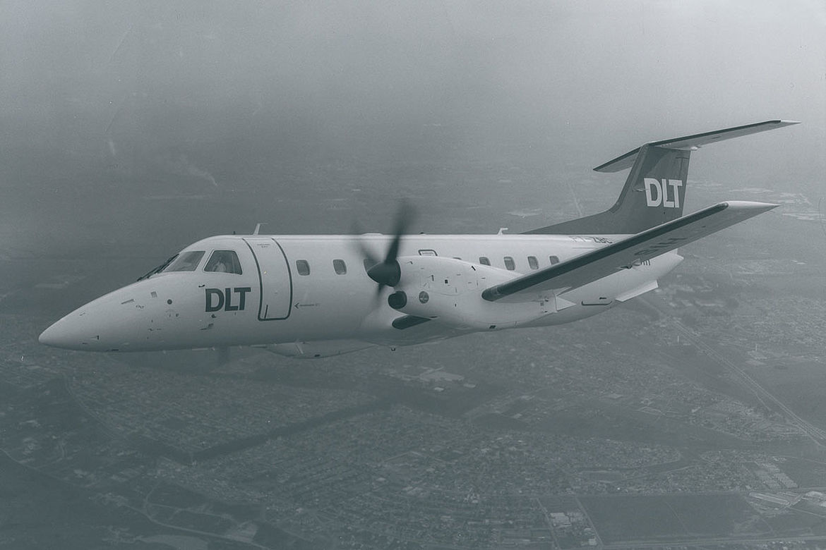 Aero-Dienst sale of the Brazilian turboprop aircraft Embraer 1983